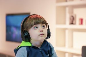 boy with ear defenders